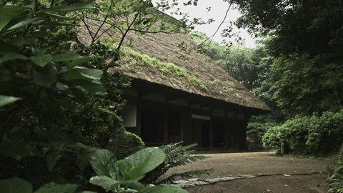 House of gassho-zukuri in Sankeien Footage