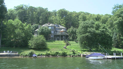 Large Estate with dock on the river (1 of 4) Footage