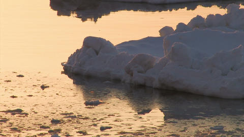 Drifting ice on the sea,Utoro,Hokkaido,Japan Stock Video Footage