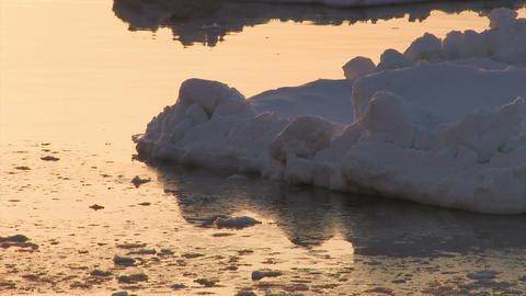 Drifting ice on the sea,Utoro,Hokkaido,Japan Stock Video Footage