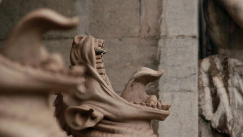 Gargoyle statue Stock Video Footage