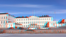 Stereoscopic 3D Helsinki 10 - Presidential Palace Stock Video Footage