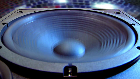 10627 disco speaker close Stock Video Footage