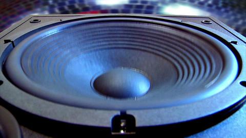 10627 disco speaker close Stock Video Footage