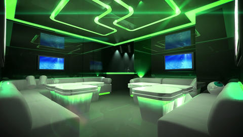 color led of Cyber Club Room Animation