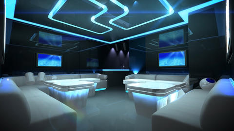 Cyber Club Room Stock Video Footage