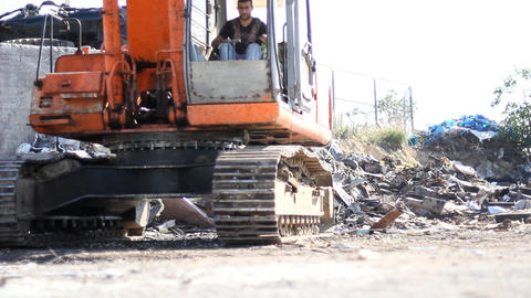 Large Scrap Metal Recycling Center Scrap Metal Recycling Yard Live Action