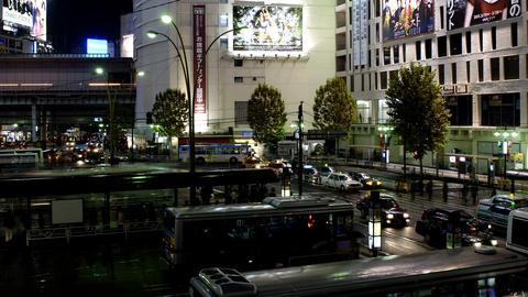 Time Lapse from the night of Shibuya station,in Tokyo,Japan Stock Video Footage