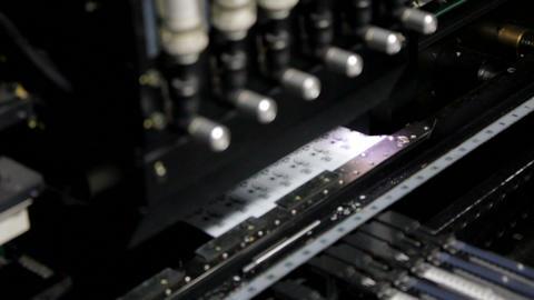Surface Mount Technology (SMT) Machine Stock Video Footage