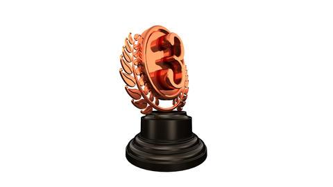 Medal Prize Trophy Bbw HD Stock Video Footage