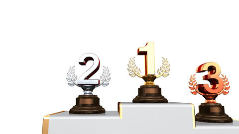 Podium Prize Trophy Aa2w HD Animation