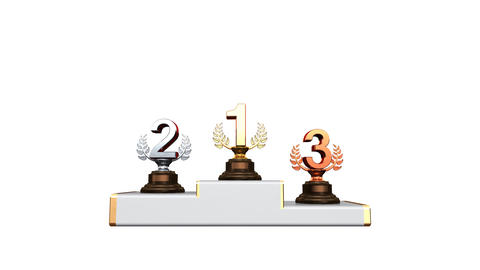 Podium Prize Trophy Aa2w HD Stock Video Footage