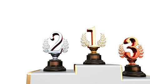 Podium Prize Trophy Ab2w HD Animation