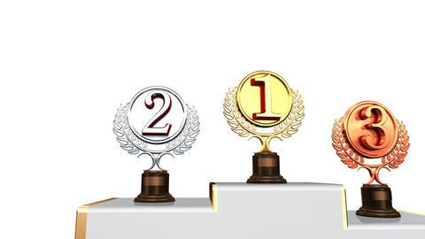 Podium Prize Trophy Ac2w HD Animation