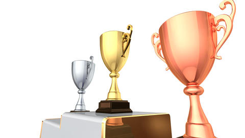Podium Prize Trophy Cup Ea2w HD Animation