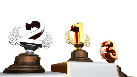 Podium Prize Trophy Ea2w HD Stock Video Footage