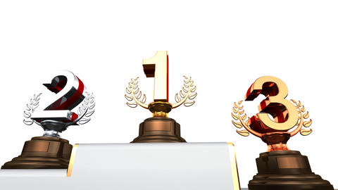 Podium Prize Trophy Ea2w HD Animation