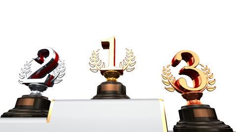 Podium Prize Trophy Eb2w HD Stock Video Footage