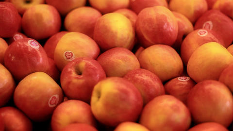 Vegetables fruits salad apple banana orange healthy... Stock Video Footage