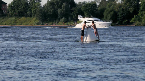river buoy Stock Video Footage