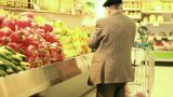 Vegetables old man salad tomato tomatoes cucumber cucumbers healthy merchandise supermarket diet Footage