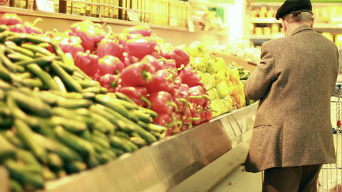 Vegetables old man salad tomato tomatoes cucumber... Stock Video Footage