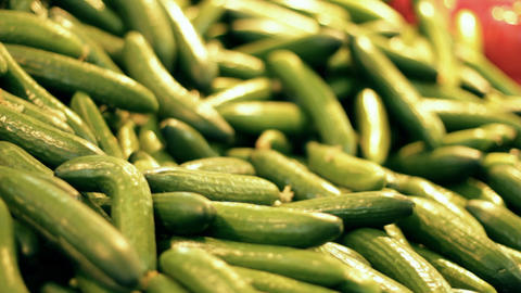 Vegetables fruits salad apple pepper cucumber cucumbers... Stock Video Footage