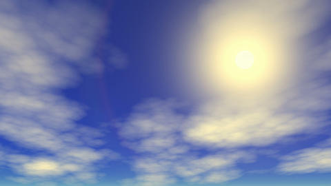 Sunny sky time lapse Stock Video Footage