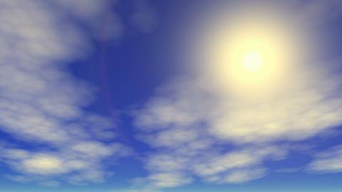 Sunny sky time lapse Animation