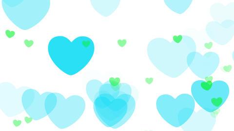 2D Pattern Pan Heart C HD Stock Video Footage