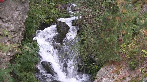 Cascade in the Austrian Alps Stock Video Footage
