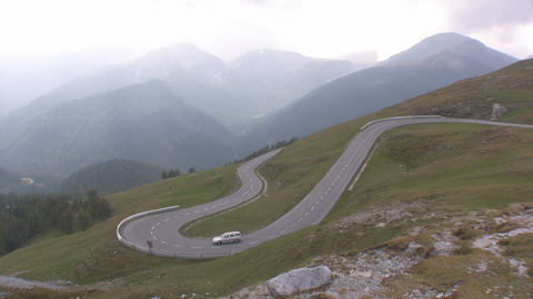 Alpine Road Stock Video Footage