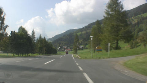 Truck at an Alpine Road Stock Video Footage