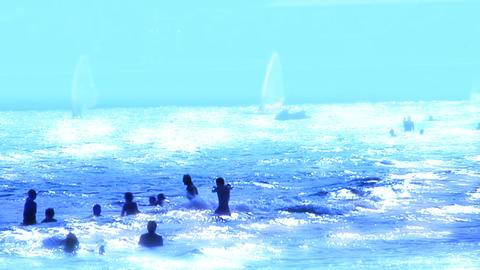 sea blue Footage