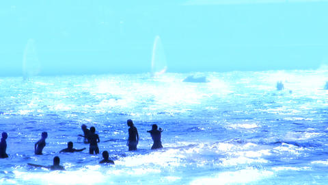 sea blue Stock Video Footage