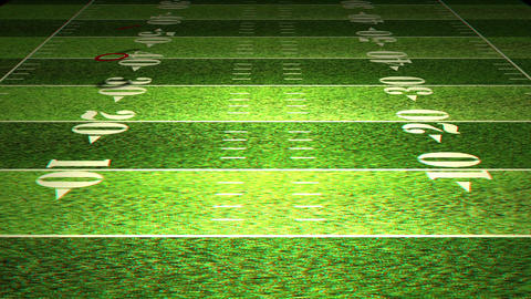 American Football Tactics 03 Stereoscopic 3D Anaglyph red... Stock Video Footage