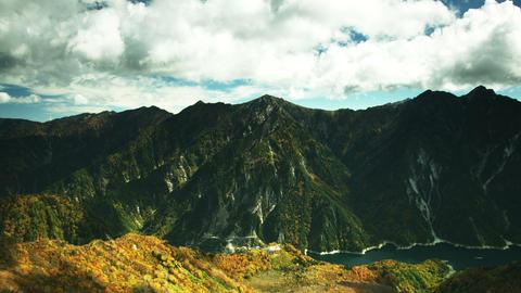 Kurobe dam autumn mountains Footage