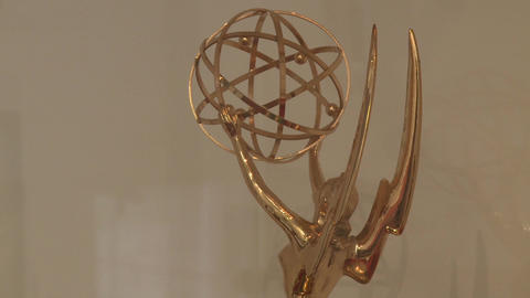 Emmy Award Trophy (1 Of 1) stock footage
