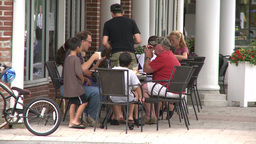 Enjoying An Outdoor Meal (3 Of 6) stock footage