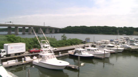 Docked boats on the bay (5 of 5) Footage