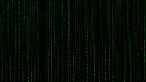 Computing Digital Matrix Numeric Animation stock footage
