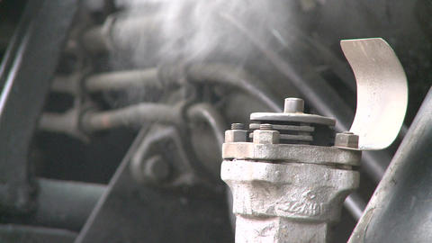 Steam coming out of exhaust pipe Footage