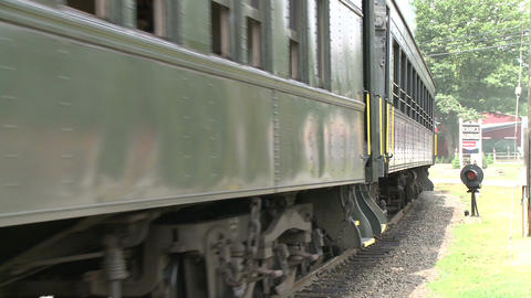 Passenger train leaving the station (3 of 3) Footage