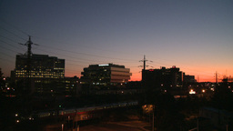 Stamford Skyline Night To Dawn Time Lapse (1 Of 5) stock footage