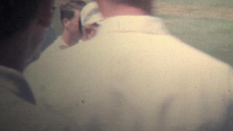 1962 - Jack Nicklaus Playing In Golf Tournament stock footage