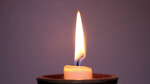 Lit Candle Close Up stock footage