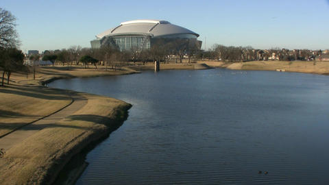 Dallas Cowboys Stadium Arlington Texas stock footage