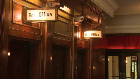 Box office of local theater Footage