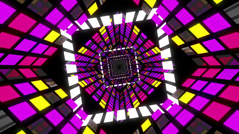 VJ Loops Square Tunnels 2