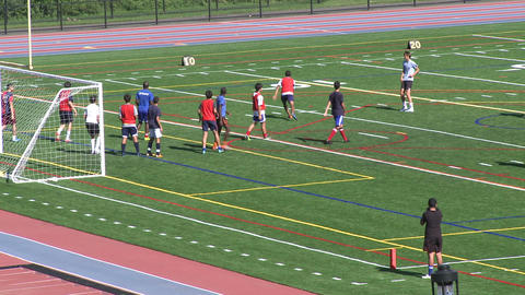 Boys Soccer Team at practice (1 of 2) Live Action